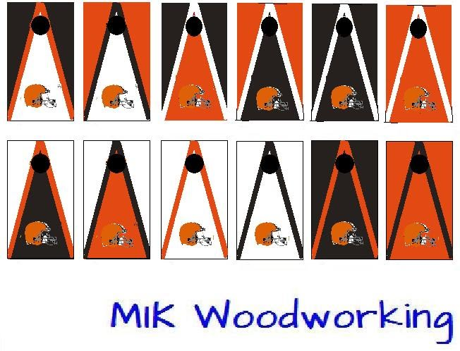 Cleveland Browns Cornhole Sets - MIK Woodworking